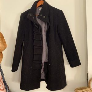 BODEN Perfect Black Wool Coat - 4P